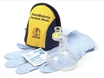 Pediatric Pocket Mask w/Gloves and Wipe in Blue/Yellow Soft Pack  10 PK