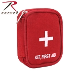 Red Military Zipper First Aid Pouch
