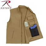 Coyote Brown Concealed Carry Soft Shell Vest