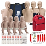 Instructor Package - Prestan Adult and Infant Manikins with Red Cross Trainers and CPR Kits