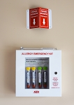 Allergy Emergency Kit Epinephrine Cabinet WITH LOCK AND EMERGENCY ACCESS HAMMER