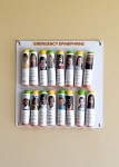 Epinephrine Auto Injector Storage Panel for School Nurse's Offices