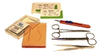 Suture Pad Practice Combo Kit (3-Layer Pocket Pad, Tools & 5x 4-0 Nylons)
