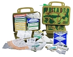 18PA Class A Outdoor Camo First Aid Kit with Poly Army Case