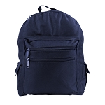 BACKPACK - (NAVY BLUE) NO SILK SCREEN - Bag Size 13x16x6