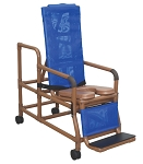 WoodTone Tilt-N-Space Reclining Shower Chair