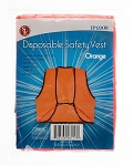 Disposable Safety Vest - Orange - 29 x19