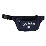 KEMP USA NAVY HIP PACK WITH WHITE GUARD LOGO