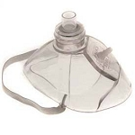 LIFE CPR Mask - Comes with Mask, Valve, O2 Barb, Strap