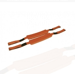 KEMP USA ORANGE HEAD IMMOBILIZER REPLACEMENT STRAPS (PAIR)