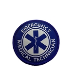 EMT iron-on embroidered patch