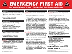 Safety Sign: Emergency First Aid Instructions