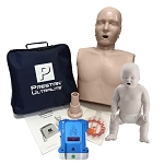 Single Prestan Ultralite + Infant Manikin + AED Trainer