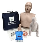 Single Prestan Ultralite + Infant Manikin with CPR Monitor + AED Trainer