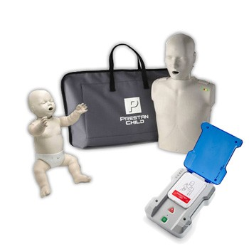 Prestan Adult + Infant Training Manikin with CPR Monitors and AED Trainer