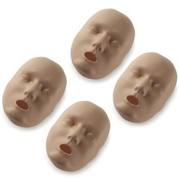 Dark Face Skin Replacements for Prestan Adult Manikin (4-Pack)