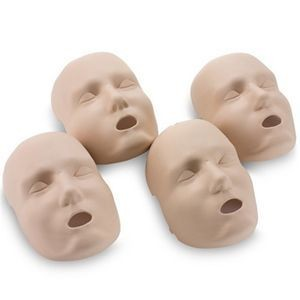 Medium Face Skin Replacements for Prestan Adult Manikin (4-Pack)