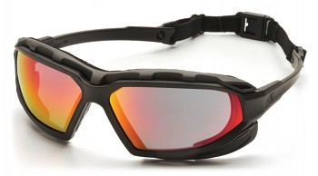 HIGHLANDER PLUS - Sky Red Mirror Anti-Fog Lens with Black/Gray Frame