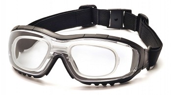 V3G - Clear Anti-Fog Lens with Black Strap/Temples