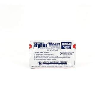 Hyfin Vent Compatible Chest Seal, Twin Pack