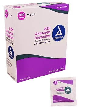 Antiseptic Towelettes - Box of 100