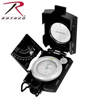 Deluxe Black Military Marching Compass