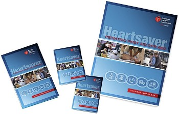 Heartsaver Pediatric First Aid CPR AED Student Workbook 6 Pack