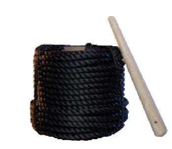 Black Poly Rope Painter Line