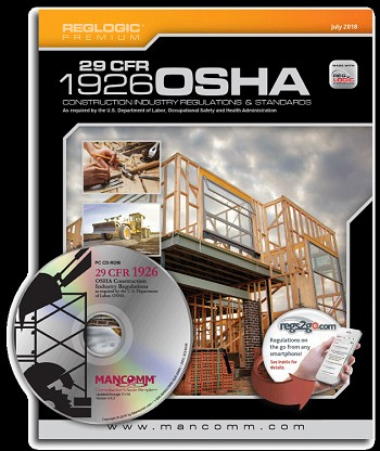OSHA Construction CFR 1926 Standards & Regulations - Book and CD