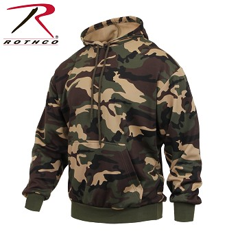 Woodland Camo Performance Polyester Pullover Hoodie