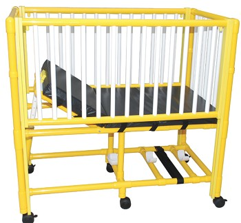 Pediatric Crib Bed w/ Yellow PVC Frame