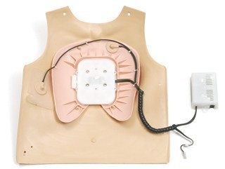 Defibrillation chest cover, complete