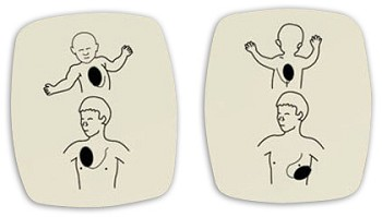 American Red Cross AED Trainer Replacement Pads (Child) - 6 Pack