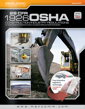 OSHA Construction CFR 1926 Standards and Regulations - Book
