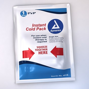 "Instant Cold Compress - 6"" x 9"",Large Size, 1/box"