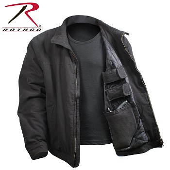 Rothco 3-Season Concealed Weapon Jacket-Black/Khaki