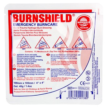 "4""x 4"" Burn Dressing Dispenser Pack (15 Pack)"