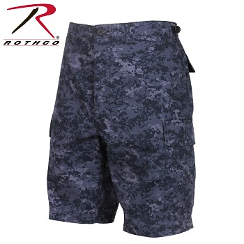 Midnight Digital Camo B.D.U. Combat Shorts
