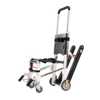 59-E EZ-Glide with PowerTraxx, Evac Chair, White