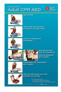Heartsaver Adult CPR AED Poster (pk 3)