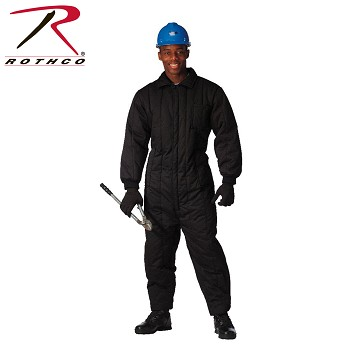 Black Insulated Coveralls-5XL