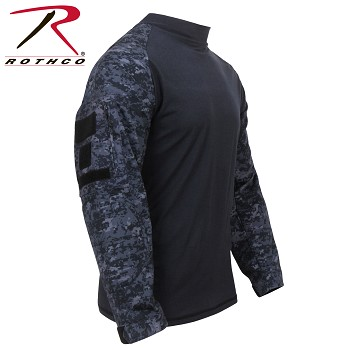 Midnight Digital Camo Fire Retardant NYCO Combat Shirt