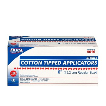 "Cotton-Tipped Applicator (6"", Sterile) - 200/Box"