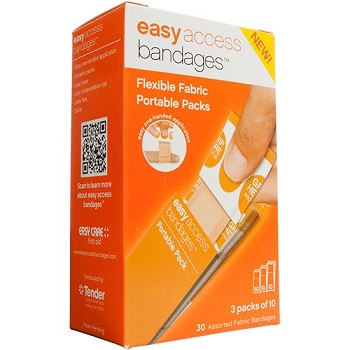 Easy Access Fabric Bandage Assorted L, M & Jr (30 count)