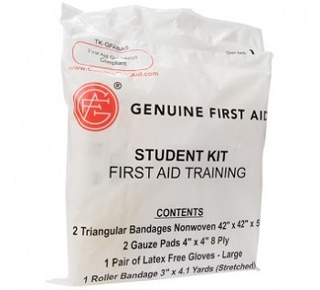 Genuine Student First Aid Training Kit case of 100