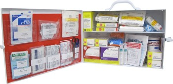 ANSI Class A Two Shelf First Aid Station