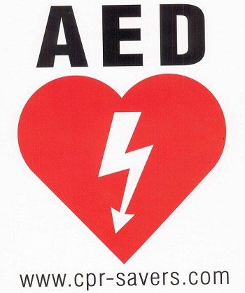 AED Decal Sticker
