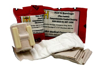 "Thin H Bandage Compression Dressing 4"" x 7.5"" Flat Fold"