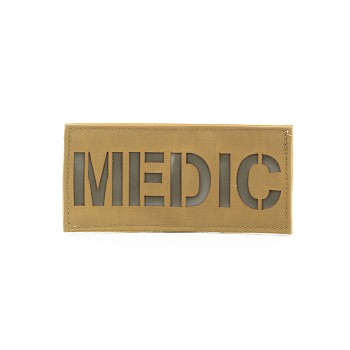 First Spear Cell Tag MEDIC Patch 3x6.5 (Background Color/Cross Color)