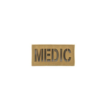 First Spear Cell Tag MEDIC Patch 2x4 (Background Color/Cross Color)